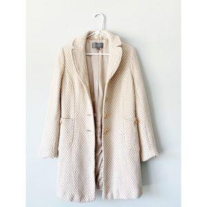 Ann Taylor Silk Lined Pea Coat